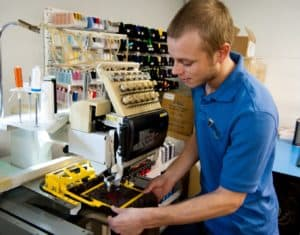 Embroidery services available at Threads Embroidery in Austin.